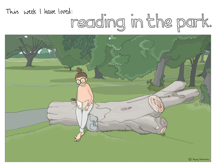 12 this week - reading in the park
