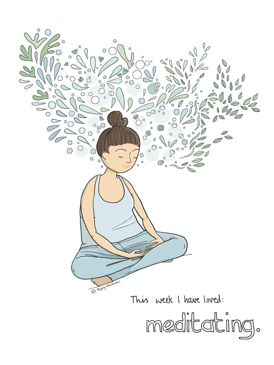 14 this week - meditating