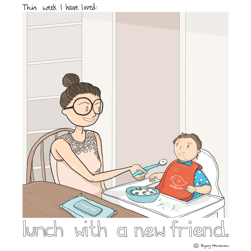 17 week - lunch with a new friend
