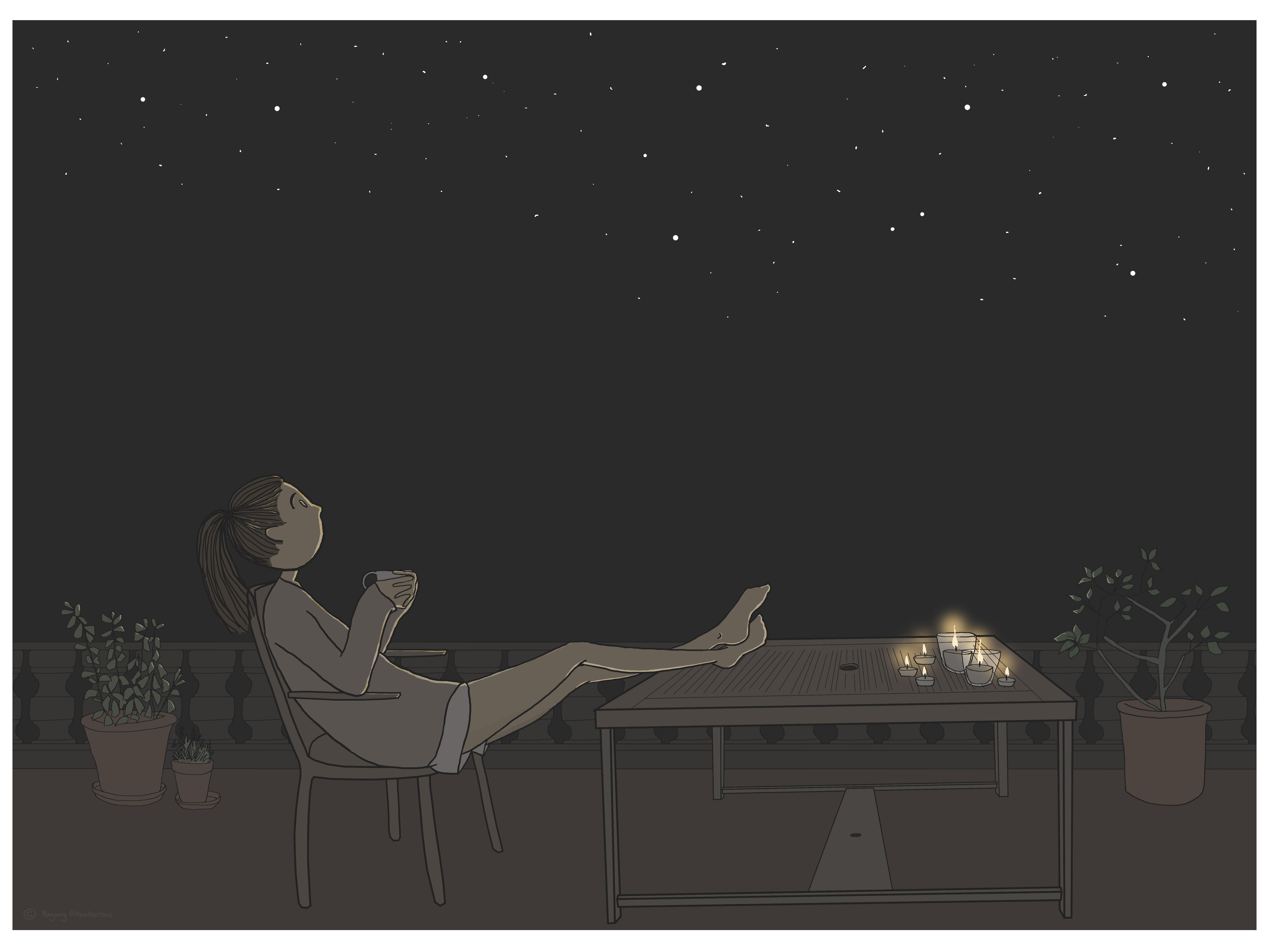 artwork - star gazing